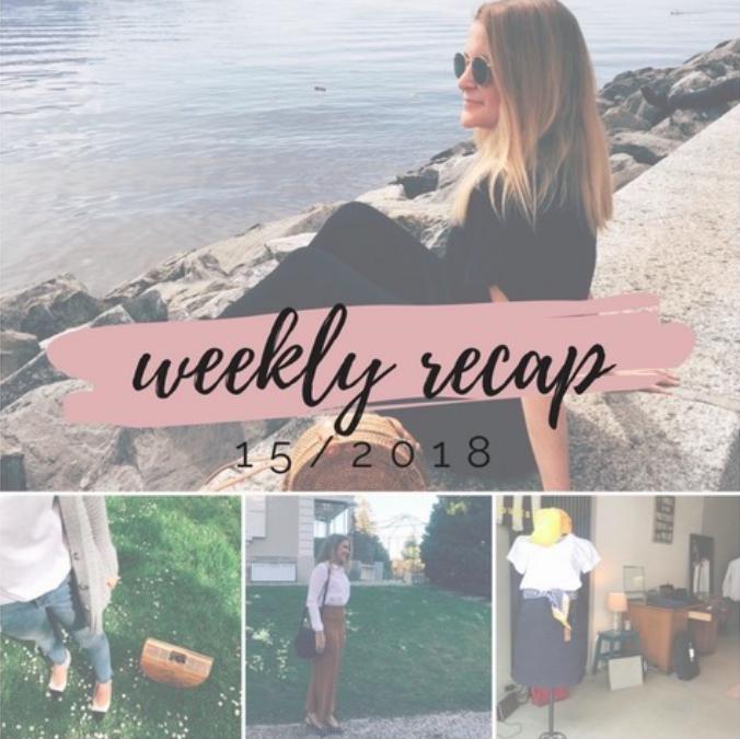 Weekly recap 15/2018
