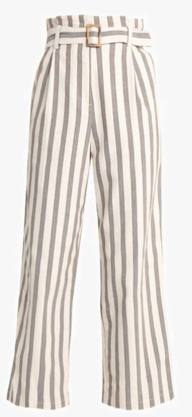 Pantalon rayé Topshop