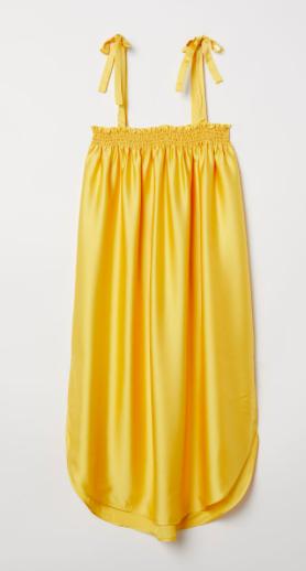 robe jaune H&M