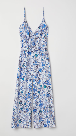 Combinaison fleurs bleue H&M