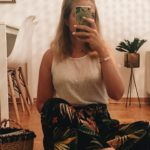 chicandswiss tropical pants zara