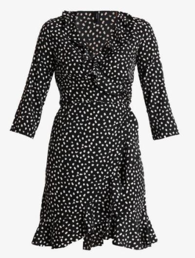 robe portefeuille à pois Vero Moda