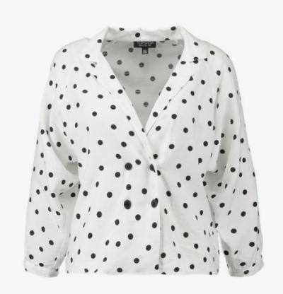 chemise à pois Topshop