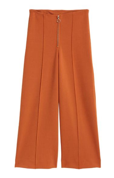 pantalons larges rouille H&M