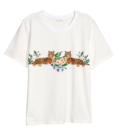 tee shirt tigre H&M