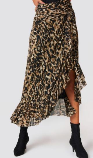 jupe longue léopard Na-kd