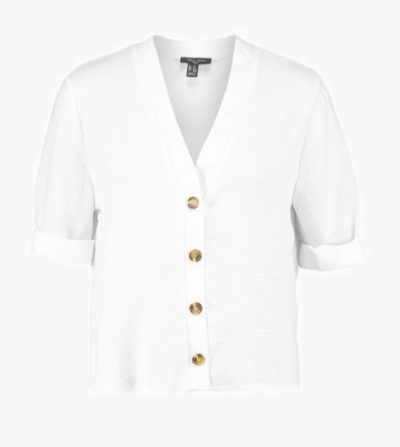 blouse blanche boutons Newlook