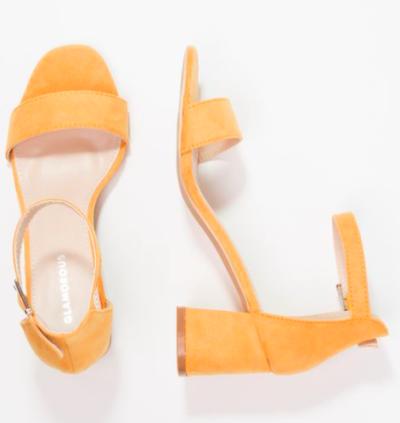sandales jaunes Glamorous
