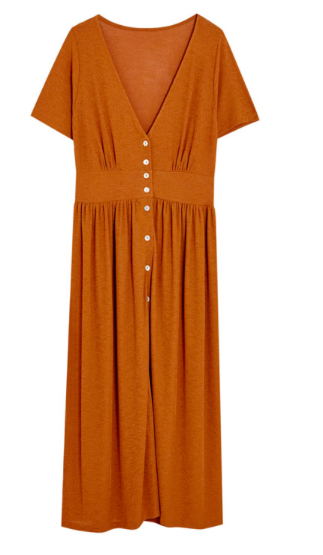 robe rouille Pull and Bear